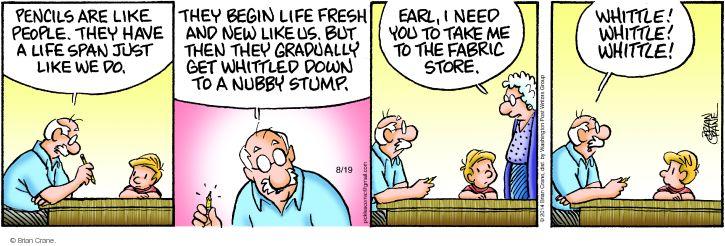 Comic Strip Brian Crane  Pickles 2014-08-19 span