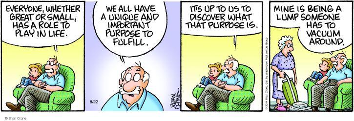 Comic Strip Brian Crane  Pickles 2014-08-22 purpose