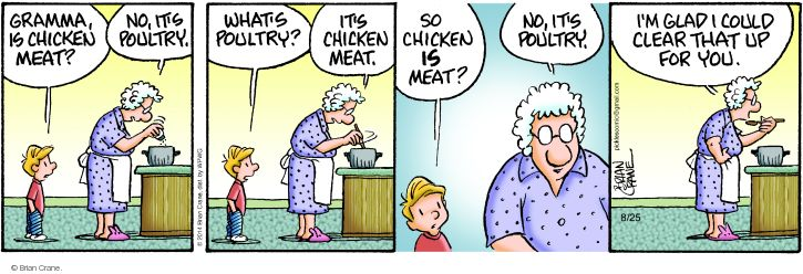 Cartoonist Brian Crane  Pickles 2014-08-25 meat