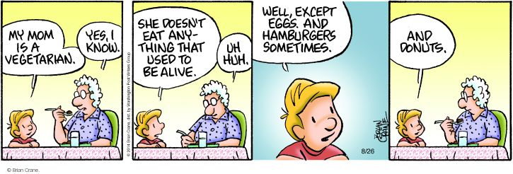 Cartoonist Brian Crane  Pickles 2014-08-26 meat
