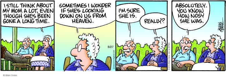 Comic Strip Brian Crane  Pickles 2014-08-27 daughter