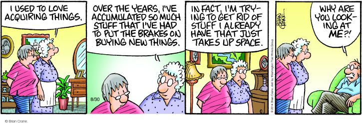 Comic Strip Brian Crane  Pickles 2014-08-30 marriage