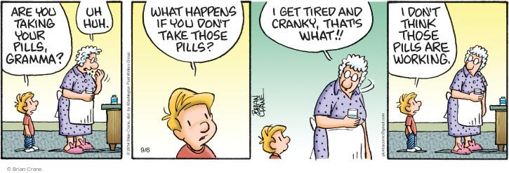 Comic Strip Brian Crane  Pickles 2014-09-06 take