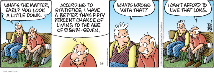 Comic Strip Brian Crane  Pickles 2014-09-08 retirement age