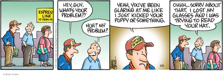 Comic Strip Brian Crane  Pickles 2014-09-09 puppy
