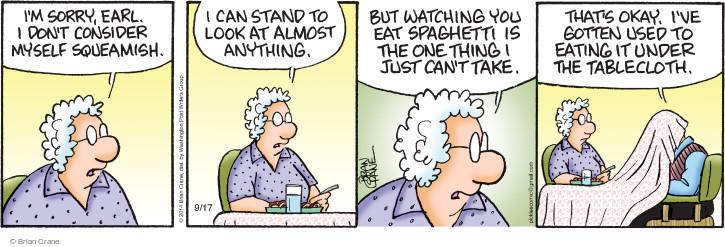 Comic Strip Brian Crane  Pickles 2014-09-17 one