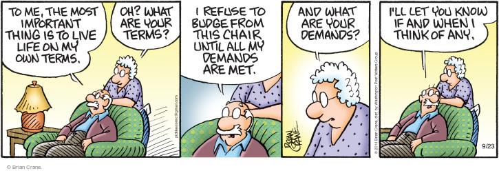 Comic Strip Brian Crane  Pickles 2014-09-23 refuse