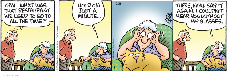 Comic Strip Brian Crane  Pickles 2014-09-25 hear
