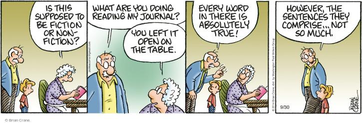 Comic Strip Brian Crane  Pickles 2014-09-30 truthful