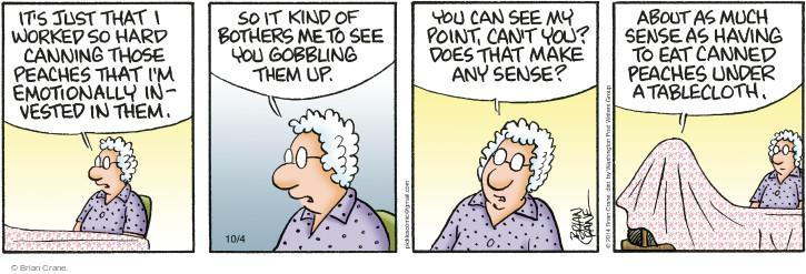 Comic Strip Brian Crane  Pickles 2014-10-04 bother