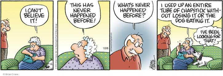 Comic Strip Brian Crane  Pickles 2014-10-08 lose
