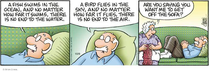 Comic Strip Brian Crane  Pickles 2014-10-09 fish