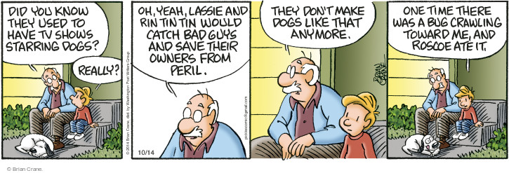 Comic Strip Brian Crane  Pickles 2014-10-14 owner