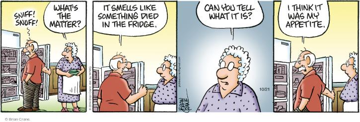 Cartoonist Brian Crane  Pickles 2014-10-21 smell