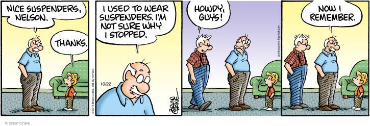 Comic Strip Brian Crane  Pickles 2014-10-22 remind
