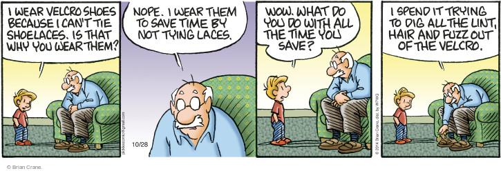 Comic Strip Brian Crane  Pickles 2014-10-28 save time