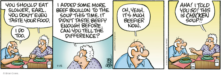 Comic Strip Brian Crane  Pickles 2014-11-05 difference