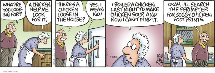 Comic Strip Brian Crane  Pickles 2014-11-10 boil