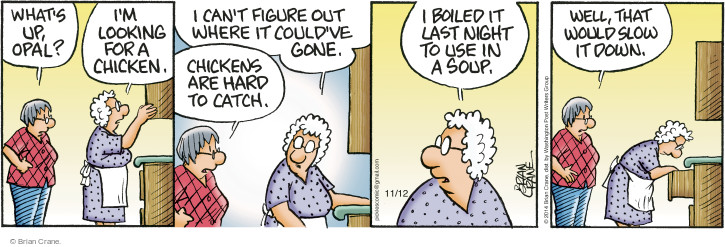 Cartoonist Brian Crane  Pickles 2014-11-12 ingredient