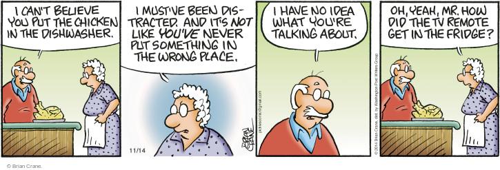 Comic Strip Brian Crane  Pickles 2014-11-14 dishwasher