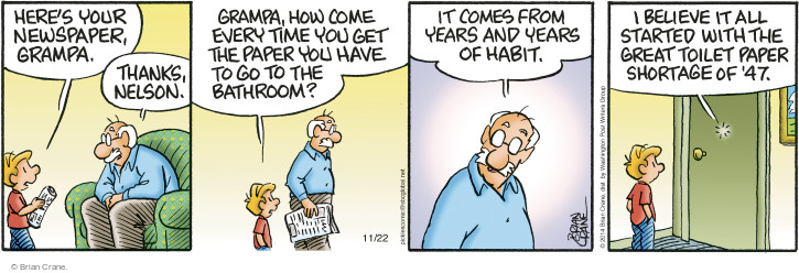 Comic Strip Brian Crane  Pickles 2014-11-22 great