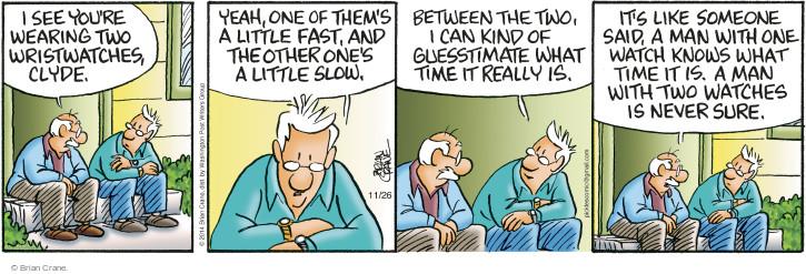 Comic Strip Brian Crane  Pickles 2014-11-26 man
