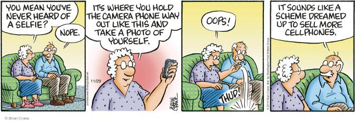Comic Strip Brian Crane  Pickles 2014-11-29 hear