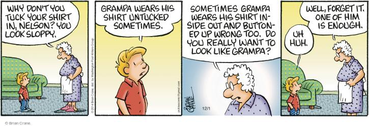 Comic Strip Brian Crane  Pickles 2014-12-01 too