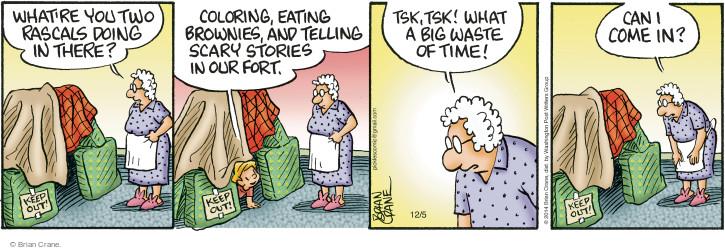 Cartoonist Brian Crane  Pickles 2014-12-05 waste time