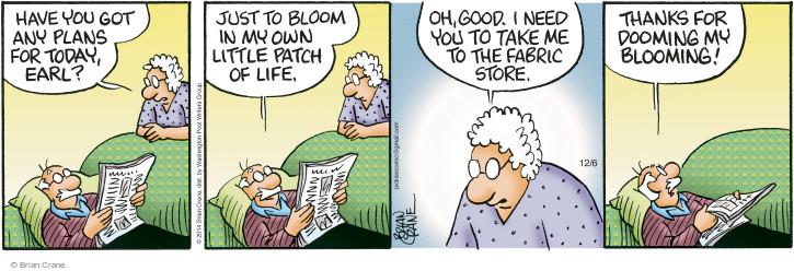 Comic Strip Brian Crane  Pickles 2014-12-06 fabric