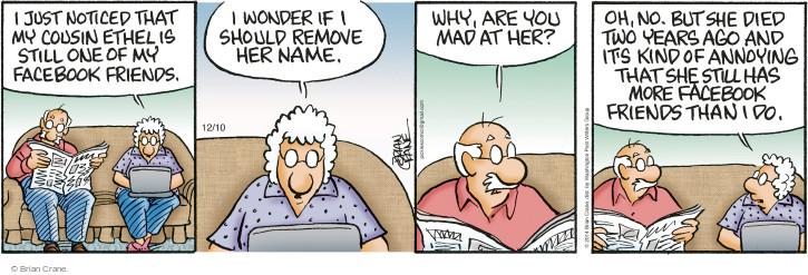 Comic Strip Brian Crane  Pickles 2014-12-10 remove