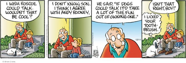 Comic Strip Brian Crane  Pickles 2014-12-11 language