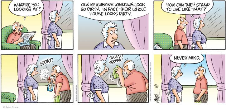 Comic Strip Brian Crane  Pickles 2014-12-28 judgment
