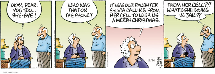 Comic Strip Brian Crane  Pickles 2014-12-24 daughter