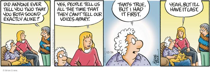 Comic Strip Brian Crane  Pickles 2014-12-26 similarity