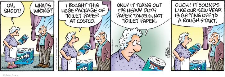 Comic Strip Brian Crane  Pickles 2015-01-03 paper towel