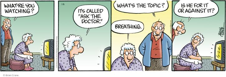 Comic Strip Brian Crane  Pickles 2015-01-06 medicine