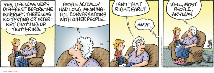 Comic Strip Brian Crane  Pickles 2015-01-08 text