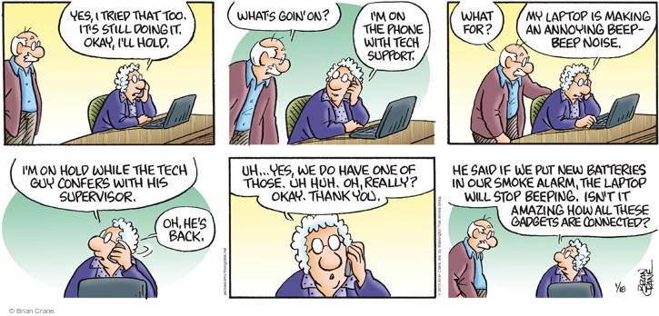 Comic Strip Brian Crane  Pickles 2015-01-18 battery