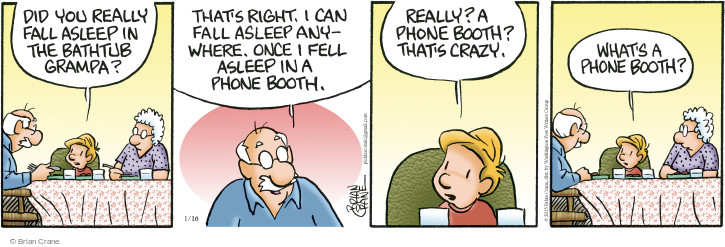 Comic Strip Brian Crane  Pickles 2015-01-16 bath