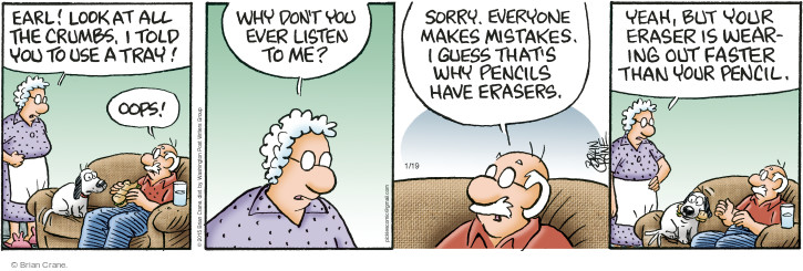 Comic Strip Brian Crane  Pickles 2015-01-19 remind