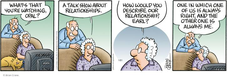 Comic Strip Brian Crane  Pickles 2015-01-21 wife