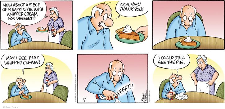 Comic Strip Brian Crane  Pickles 2015-02-01 pumpkin pie