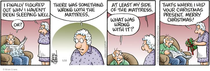 Comic Strip Brian Crane  Pickles 2015-01-31 Merry