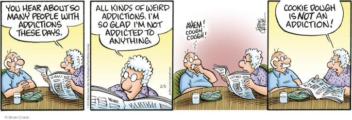 Comic Strip Brian Crane  Pickles 2015-02-05 ahem