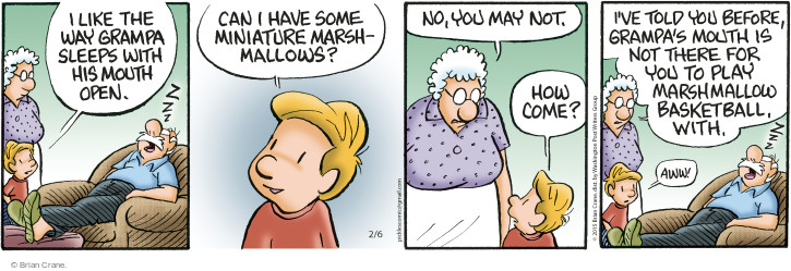 Comic Strip Brian Crane  Pickles 2015-02-06 miniature