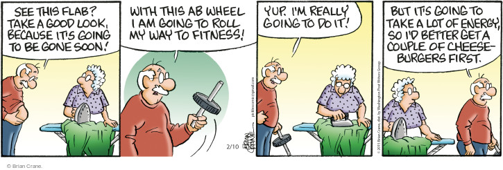 Comic Strip Brian Crane  Pickles 2015-02-10 health fitness