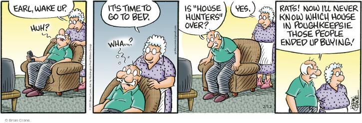 Comic Strip Brian Crane  Pickles 2015-02-12 wake