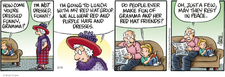 Comic Strip Brian Crane  Pickles 2015-02-18 hat