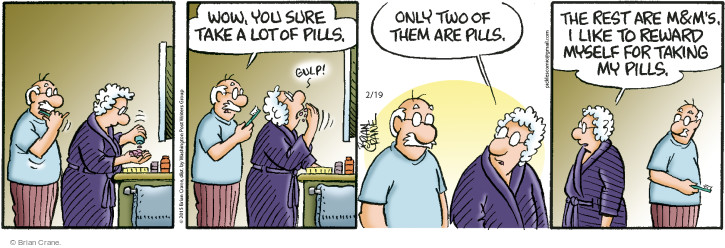 Comic Strip Brian Crane  Pickles 2015-02-19 medicine